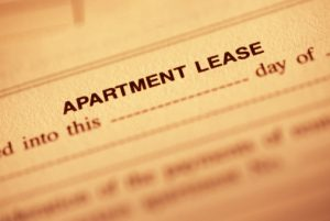 Picture of a lease document